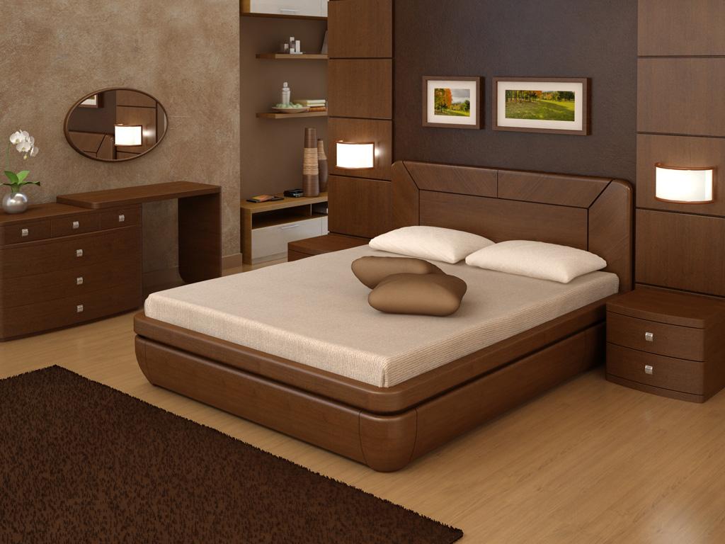Кровать из шпона